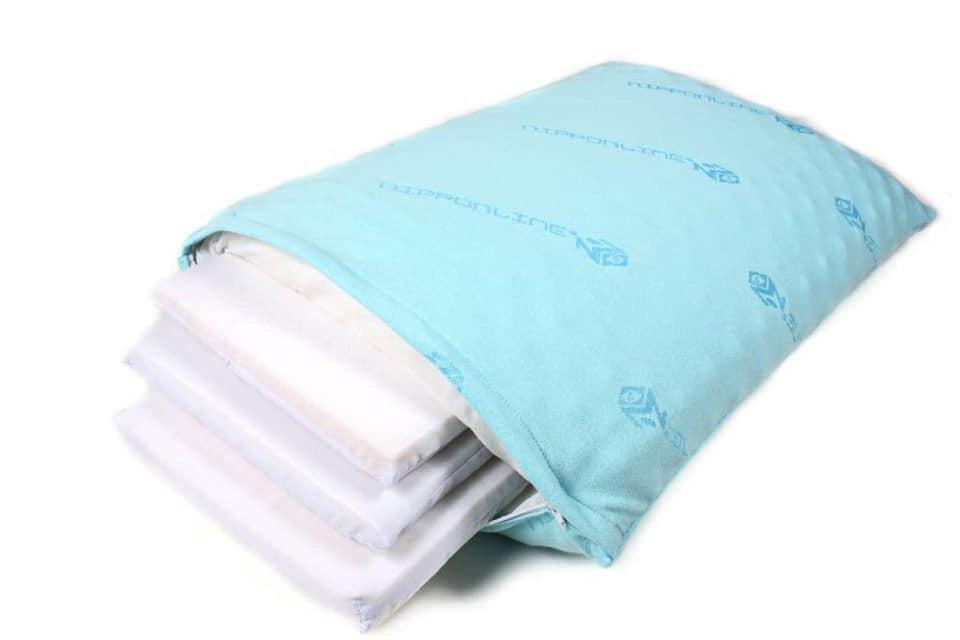 Travesseiro colo de vo camadas